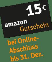 15 € Amazon-Gutschein bei Online-Abschluss