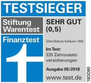 Stiftung Warentest 2018 Tarif Zahnschutz Exklusiv 100