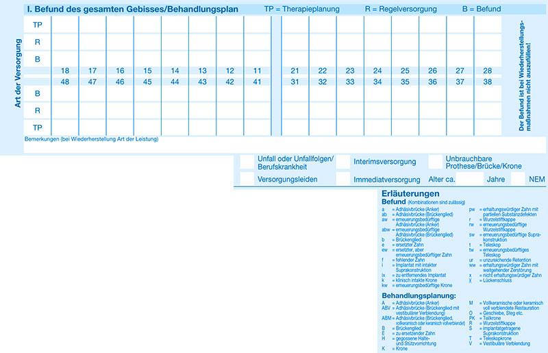 Heil und Kostenplan Abschnitt 2